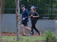 William Bonner mostra disposição ao se exercitar com filha Beatriz no RJ. Fotos!