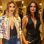 Fernanda Lima e Thaila Ayala elegem bodies decotados para evento fashion. Fotos!