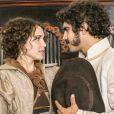 Pedro (Caio Castro) conseguiu reconquistar Domitila (Agatha Moreira), na novela 'Novo Mundo'