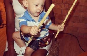 Davi Lucca, filho de Neymar, 'toca' bateria: 'Baterista mais lindo do mundo!'