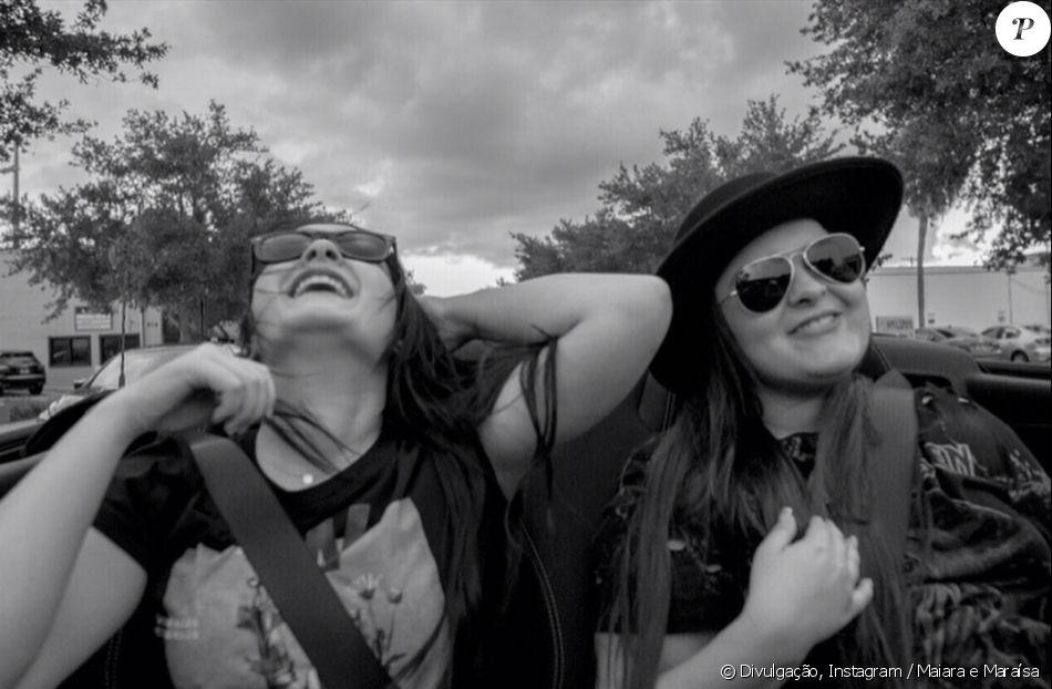 Maiara e a irmã, Maraísa, estão curtindo dias de folga nos Estados Unidos