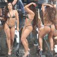 Anitta rebolou com biquíni de fita isolante no Vidigal