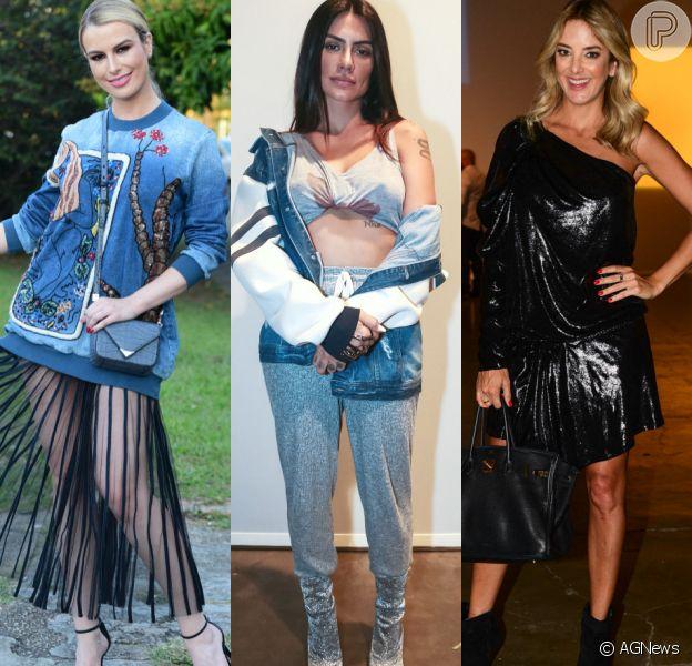 Fernanda Keulla, Cleo Pires e Ticiane Pinheiro participaram da São Paulo Fashion Week. Veja looks de mais famosas!