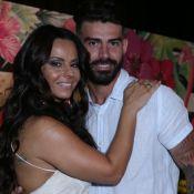 Viviane Araújo e ex-noivo, Radamés, ironizam término por ciúmes: 'Piada, né?'