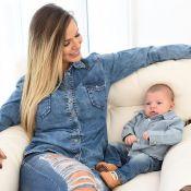 Andressa Suita comemora 2 meses do filho, Gabriel, com look combinando: 'Amor'