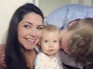 Thais Fersoza e Michel Teló 'esmagam' filha, Melinda, em vídeo: '1 ano e um mês'