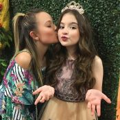 Larissa Manoela se diverte com amigas em festa de Sophia Valverde: 'Princesa'