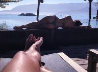 Paula Fernandes posa de biquíni e namorado elogia: 'Contemplando a paisagem'
