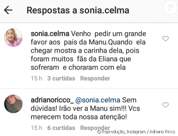Adriano Ricco, noivo de Eliana, prometeu mostrar o rosto da filha aos fãs
