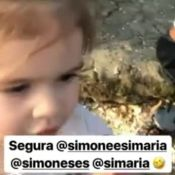 Mirella Santos filma Valentina cantando Simone e Simaria: 'Loka'. Vídeo!
