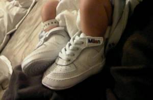 Gerard Piqué posta foto dos pés do filho recém-nascido com Shakira, Milan