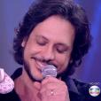 Lúcio Mauro, que já é pai de Bento e Luiza, anunciou que Cíntia Oliveira está esperando seu terceiro filho no palco do programa 'PopStar'
