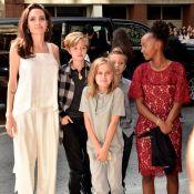 Angelina Jolie leva filhos a festival de cinema e exibe visual mais magro. Fotos