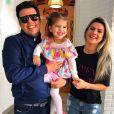 'Menina, olha nos meus olhos, e me respeita que eu sou seu pai!', afirmou a filha de Mirella Santos e Ceará, o imitando