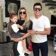 Ceará e a mulher, Mirella Santos, sempre compartilham momentos com a herdeira nas redes sociais