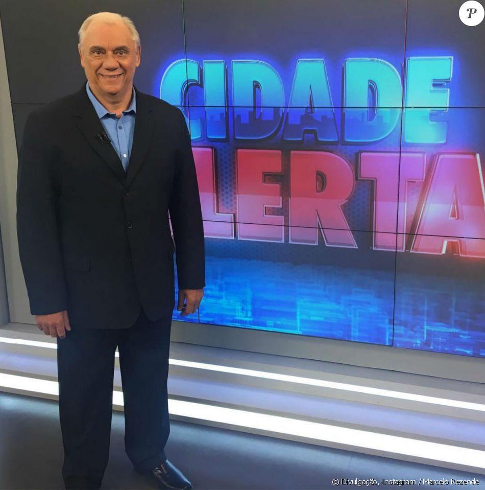 A notícia da morte de Marcelo Rezende foi confirmada pelo programa 'Cidade Alerta', que ele apresentava