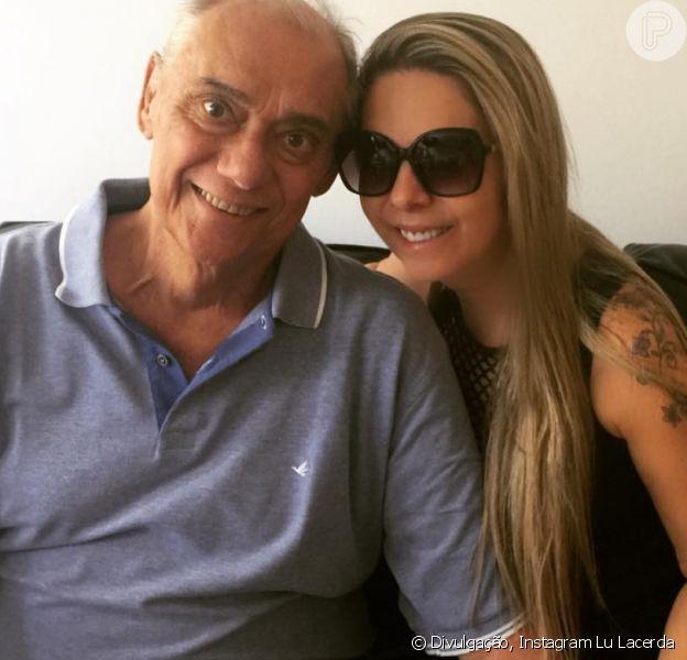 Marcelo Rezende, morto neste sábado, 16 de setembro de 2017, ganhou uma homenagem emocionante da namorada, Lu Lacerda