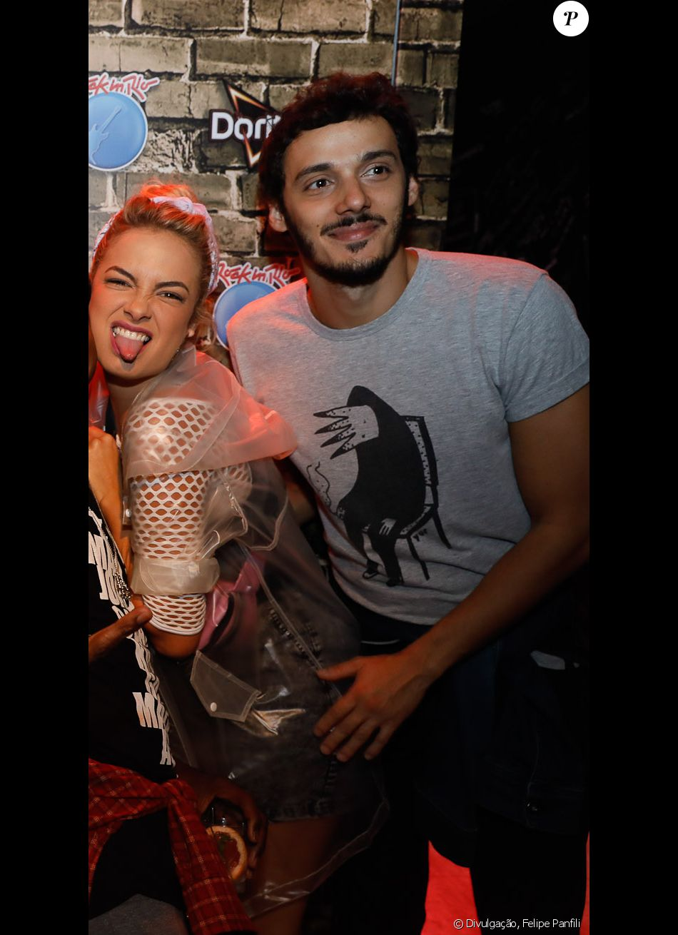 Lua Blanco e Leandro Soares posaram juntos durante o Rock in Rio