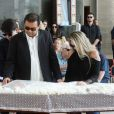 Geraldo Luis e Luciana Lacerda, namorada de Marcelo Rezende, se despedem do jornalista