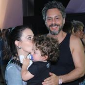 Alexandre Nero vai com a mulher e o filho de 1 ano e 9 meses ao Rock in Rio