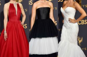 Vestidos volumosos marcam os looks das famosas no Emmy Awards. Veja fotos!