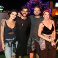 Emilio Dantas e Fabiula Nascimento curtiram show com o ator Juliano Cazarré e sua mulher no camarote VIP, no Rock in Rio, 21 de setembro de 2017