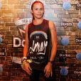Silvero Pereira usou camiseta estampada para prestigiar o Rock in Rio nesta quinta-feira, 22 de setembro de 2017