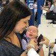 Thais Fersoza, gripada, se preocupa com a saúde dos filhos, Teodoro e Melinda
