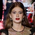 Marina Ruy Barbosa desfila pela Dolce & Gabbana na Semana de Moda de Mião, na Itália, em 23 de setembro de 2017