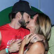 Cristiane Dias troca beijos com o namorado, Lucas Franco, no Rock in Rio