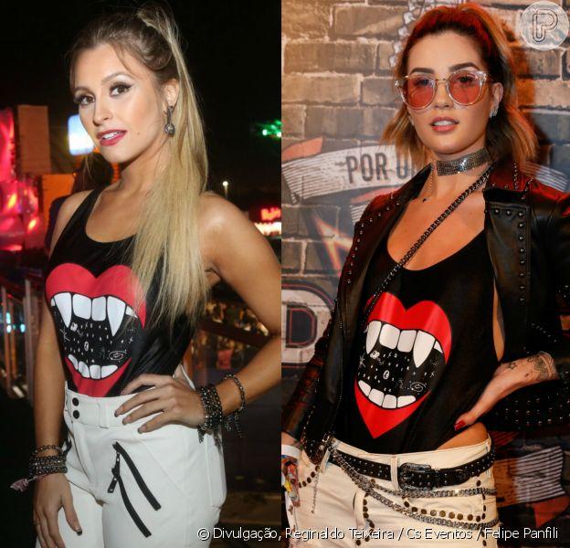 Carla Diaz e Aline Gotschalg usaram o mesmo body da grife John John no Rock in Rio