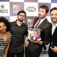 Danilo Gentili e a equipe do 'The Noite' conquistaram o troféu de Melhor Programa no Prêmio Jovem Brasileiro   na noite de segunda-feira, 25 de setembro de 2017