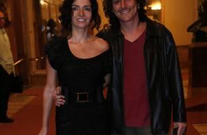 Claudia Ohana e o namorado vão a evento de dança com presença de Gloria Pires