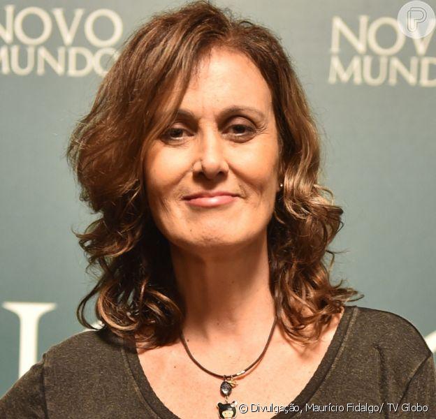 Márcia Cabrita ameniza cena cortada do último capítulo da novela 'Novo Mundo': 'Estou acostumada, acontece', diz em entrevista ao Purepeople em 2 de outubro de 2017