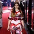 Thylane Blondeau também desfilou pela grife Dolce & Gabbana na Semana de Moda de Milão, em 23 de setembro de 2017