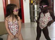 Títi posa de maiô com amiga e a mãe, Giovanna Ewbank, brinca: 'E as poses?'