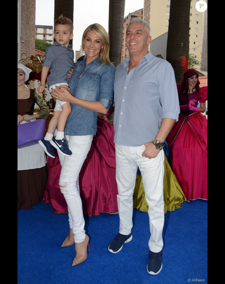 Ana Hickmann e o marido, Alexandre Correa, contaram que não pretendem criar com o luxo o filho, Alexandre Jr.