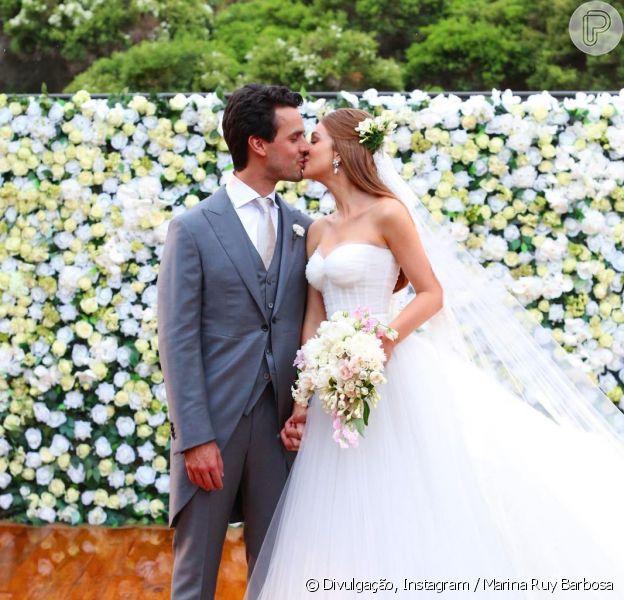 Marina Ruy Barbosa e Xandinho Negrão se casam em Campinas, São Paulo