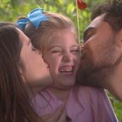 'Carinha de Anjo': Dulce Maria comemora namoro de Gustavo e Cecília.'Felicidade'