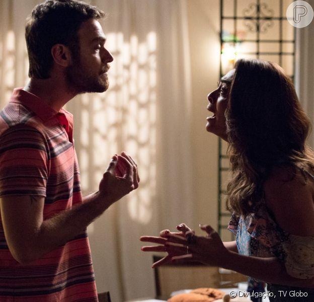 Rubinho (Emilio Dantas) vai expulsar Bibi (Juliana Paes) de casa nos próximos capítulos da novela 'A Força do Querer'