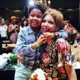 Astrid Fontenelle é mãe de Gabriel, de 5 anos. A apresentadora adotou o menino quando ele tinha quase três meses. 'Ele não nasceu da minha barriga, mas é fruto do meu coração', declarou na época