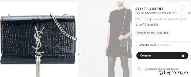 A bolsa escolhida por Bruna Marquezine