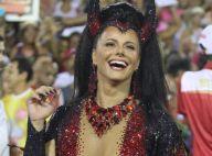 Viviane Araújo, de diabinha, curte Halloween na casa de Faustão. Veja fotos!