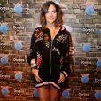 A promoter Carol Sampaio arrasou com um look fashion e confortável no Rock in Rio, em 15 de setembro de 2017