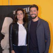 Cauã Reymond lança filme ao lado da namorada, Mariana Goldfarb, em mostra de SP