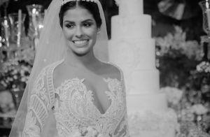 Ex-BBB Munik usou vestido emprestado em casamento: 'Desenhou do jeito que quis'