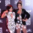Gretchen e Valesca no Prêmio Multishow, realizado no Rio de Janeiro nesta terça-feira, 24 de outubro de 2017