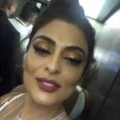 Juliana Paes, presa no elevador, se atrasa em pré-estreia de 'Dona Flor'. Vídeo!