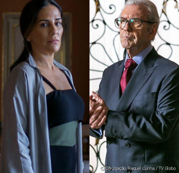 Elizabeth (Gloria Pires) é chantageada por Natanael (Juca de Oliveira) e resolve forjar sua própria morte, no capítulo que vai ao ar sábado, dia 4 de novembro de 2017, na novela 'O Outro Lado do Paraíso'