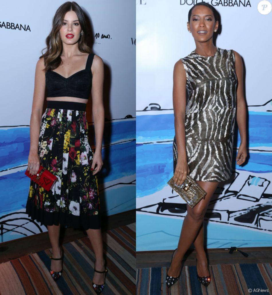 Camila Queiroz, Tais Araújo e mais famosas usam look Dolce  amp  Gabbana em  festa e4086f256e